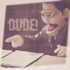 highlander_ii: Angel puppet pointing with text 'Dude!' ([Angel] puppet  - DUDE!)
