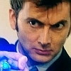 cuda: Tenth Doctor, played by David Tenant, pointing his screwdriver, which is glowing. (Tenth Doctor)