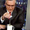 sarken: keith olbermann dunks tea bags in his mug at the anchor desk ([pundits] teabagging queen)