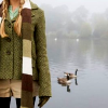 wireless: muted colours / girl with scarf and duck / lake (Stock: desiderata & ducks)