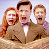 kinirokitsune: Rory, Amy and Rory screaming (Aaaaaaah!)
