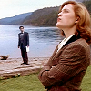wendelah1: Scully and Mulder at the lake (lake okobogee)