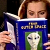 wendelah1: Scully reading From Outer Space (science fiction)