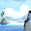 whitelotusmods: Korra looking over Republic City on Naga (Korra arriving in Republic City)