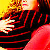 automaticdoor: britta and annie from community hugging, annie's face is visible (brannie hug 1 (annie))