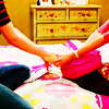 automaticdoor: britta and annie from community holding hands (brannie holding hands)