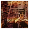tehkittykat: dryden fassa showing off his huge.. library (esca; dryden's library)