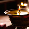 lizcommotion: Image of a lit tealight candle (candle)