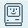 sofiaviolet: a bitmap version of the old happy mac face (happy mac)