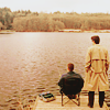 shanaqui: Dean and Castiel, fishing, from Supernatural. ((DeanCastiel) To be alone with you)
