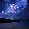 pathological_needlepoint: the stars in the sky over the beach at night (sea and stars)