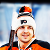 twincy: Danny Briere of the Philadelphia Flyers, wearing a hat at the Winter Classic. (stock | mrs dalloway)