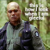 "cesy: Teal'c saying ""This is how I look when I am gleeful"" (Stargate Teal'c gleeful)"