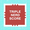 "kshandra: Mock Scrabble board square reading ""Triple Nerd Score"" (Triple Nerd Score)"