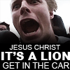 jumperkid: (jesus christ its a lion!)