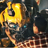swordage: Bay movie: Sam touching Bumblebee's face. (tf d'awww bee-hugging)