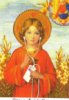 were_duck: an icon of a saint wearing earbuds and holding an ipod (iPod saint)