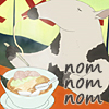 whymzycal: A cartoon anteater eating a bowl of ramen (Anteater nom)