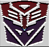 ilyena_sylph: transformers insignia with autobot upper half and decepticon lower half, in red and purple (Transformers: One species)