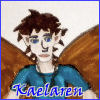 we_are_spc: Bust of Kae with blue border and name in blue (Kaelaren the brown, Kaelaren)