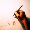 darthneko: hand with pen ([art] set pen to paper)