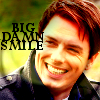 phinnia: jack with an enormous smile on his face and the text 'big damn smile' (torchwood/jack-big damn smile)