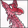 shanaqui: A drawing of a Welsh dragon. ((Dragon) Welsh dragon)