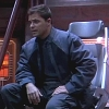 slybrarian: Lorne, sitting in the captain's chair of the Orion. (Lorne Captain)
