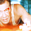 dira: John McClane in the ductwork.  (McClane - Have a few laughs)