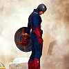 milenaa: Captain America standing on a taxi with his head bowed (food - asparagus)