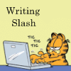 valderys: Garfield at a laptop writing slash (Default)
