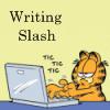 valderys: Garfield at a laptop writing slash (Default)