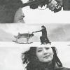 amihan: three black-white images showing different scenes from 'sympathy for lady vengeance'' ([sympathy for lady vengeance] dream)