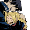 vicemage: Edward Elric and Roy Mustang embracing and laughing (macajia)
