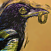squeemu: Magpie holding a ring in its beak. ([me] :D?)
