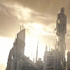slybrarian: The sun rising over the towers of Atlantis (Atlantis Tower Sun)