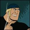 samson: (jokes w/ stupid hat)