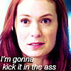 "alexseanchai: Felicia Day as Charlie Bradbury on Supernatural, caption ""I'm gonna kick it in the ass"" (Supernatural kick it in the ass)"