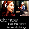 "alexseanchai: Felicia Day as Charlie Bradbury on Supernatural, caption ""dance like no-one is watching"" (Supernatural dance like no one is watchi)"