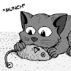 silversliver: cat munching on a catnip mouse (Default)