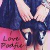 "jenepod: (Girl & headphones ""I love podfic"")"