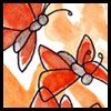 jjhunter: multiple watercolor butterflies flying (butterfly flock)