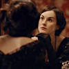 lady_mary: Lady Mary Crawley in her dressing table mirror (girl in the mirror)