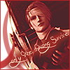 "anshin: Rufus Shinra in red; text reads: ""only the strong survive"". (rufus)"
