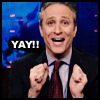 chatananas: Jon Stewart says Yay (JOIE: Jon says Yay)