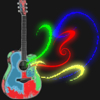 twistedchick: my Gibson guitar with added color and music swirls (guitar)