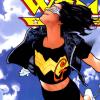 instantramen: girl in goggles flying (she's a Wonder)