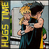 cmshaw: DC Comics: Robin and Wonder Girl have HUGS TIME (So what if they're looking?)