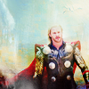 mjolnir_retriever: Thor in armor looking shiny with a dramatic sky behind him (Default)