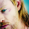 mjolnir_retriever: Thor bruised and vulnerable, looking downwards (battered and bowed)